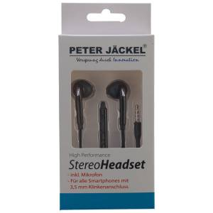 Peter Jäckel Stereo Headset 3.5mm Klinke Sound Pro - Black