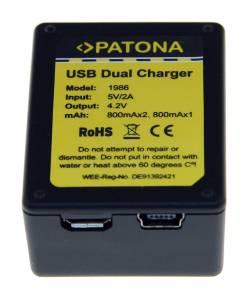 Ladegerät Dual für GoPro Hero 3 AHDBT-301, inkl. Micro-USB Kabel