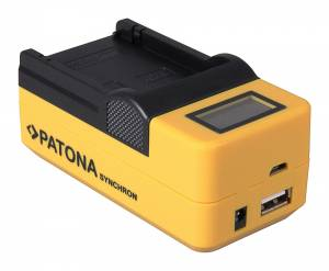 Ladegerät Synchron für Nikon EN-EL24 & USB Gerät, LCD-Display