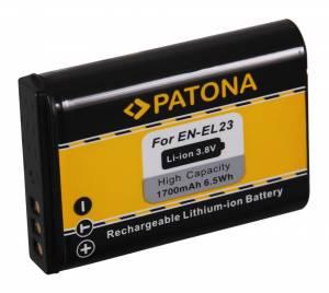 Akku wie Nikon EN-EL23 / Coolpix P600, P610, P900, S810c, 1700mAh