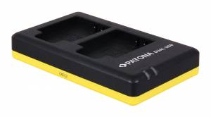 Dual Schnell-Ladegerät für Olympus Li-90B inkl. Micro-USB Kabel