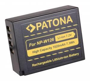 Akku wie Fuji FinePix X-Pro 1, HS-30 EXR / NP-W126, 1020 mAh
