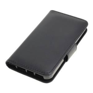 Tasche (Kunstleder) für Apple iPhone 5 / iPhone 5S / iPhone SE BookStyle schwarz