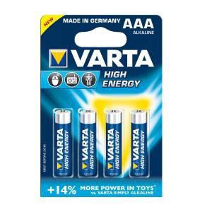 Batterie AAA Micro, 4er Blister, Varta