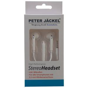 Peter Jäckel Stereo Headset 3.5mm Klinke Sound Pro - White