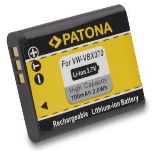 Akku wie Pentax D-Li88, Panasonic VW-VBX070, Sanyo DB-L80