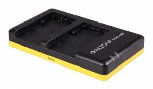 Dual Schnell-Ladegerät für Sony NP-FP30, FP50, FP51 inkl. Micro-USB Kabel