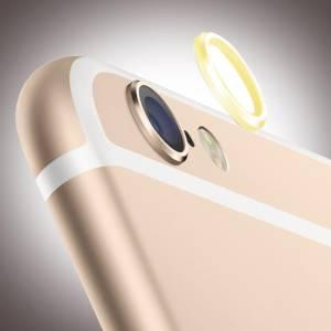Kameraschutz Aluminium für Apple iPhone 6, 6s, gelb