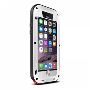 Wasserfestes Metall-Hardcover für iPhone 6, iPhone 6s, weiß