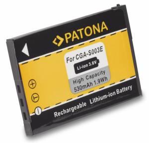 Akku wie Panasonic CGA-S003E / SA-SA30, SV-AS10, AV50, 530mAh