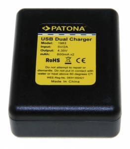 Ladegerät Dual für GoPro Hero 4 AHDBT-401, inkl. Mini-USB Kabel