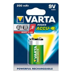 9 Volt Block Akku, Varta Power Akku / 200 mAh