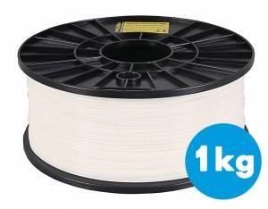 Filament ABS für 3D Drucker, 1,75mm, weiss, 1kg