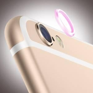 Kameraschutz Aluminium für Apple iPhone 6, 6s, pink