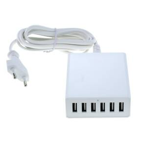 Universal USB 6-Port Multi- Ladeadapter mit Auto-ID Funktion, weiss