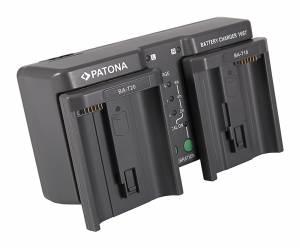 Ladegerät Dual für Nikon, Canon Akku EN-EL18, EN-EL4, LP-E4, BA-T10