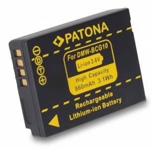 Akku Panasonic Lumix DMC-TZ8,-TZ10,-TZ22 / DMW-BCG10E, 860 mAh