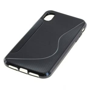 TPU Case kompatibel zu Apple iPhone XR S-Curve schwarz