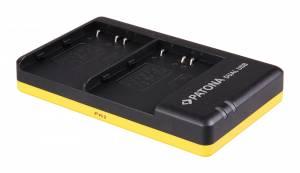 Dual Schnell-Ladegerät für Nikon EN-EL3E, EN-EL3E inkl. Micro-USB Kabel